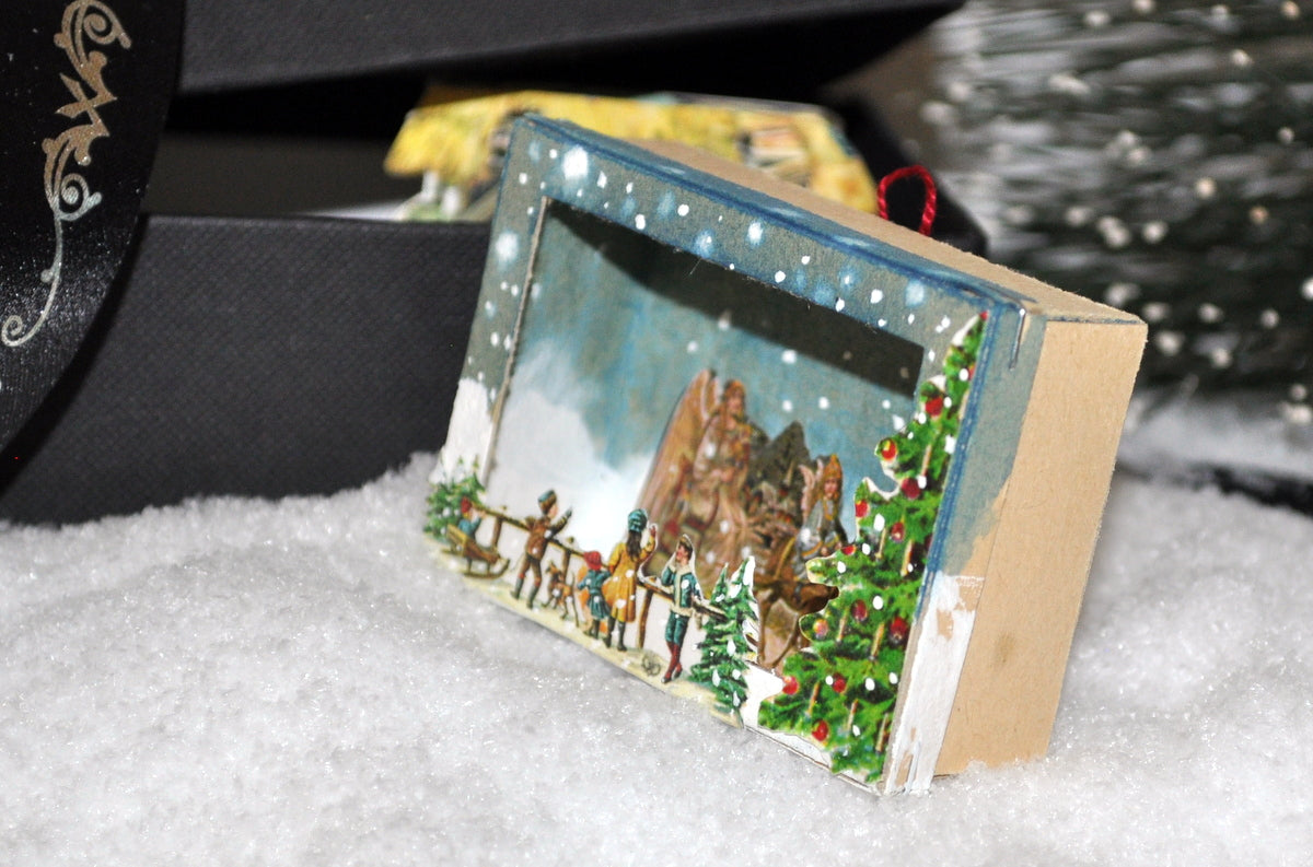 Estate Treasure: Hanging German Christmas Eve Diorama by Sue Zwahlen
