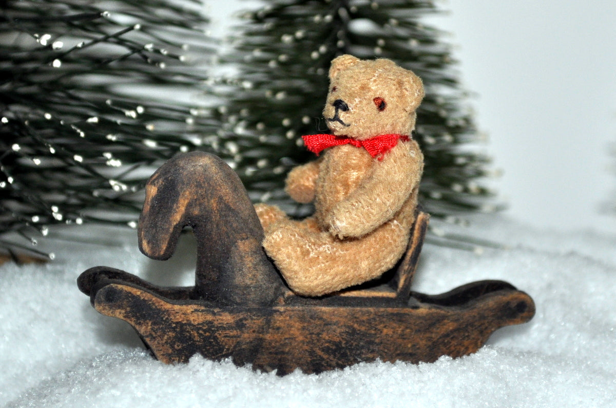 ESTATE TREASURE: Teddy With Red Bow by Anita Oliver