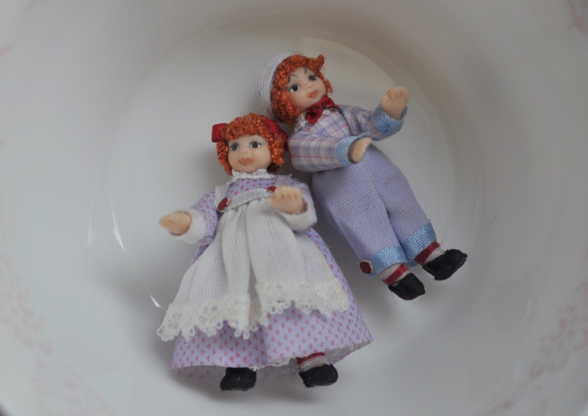 Pair of Raggedy Ann and Andy Doll's Dolls by Diane Yunnie