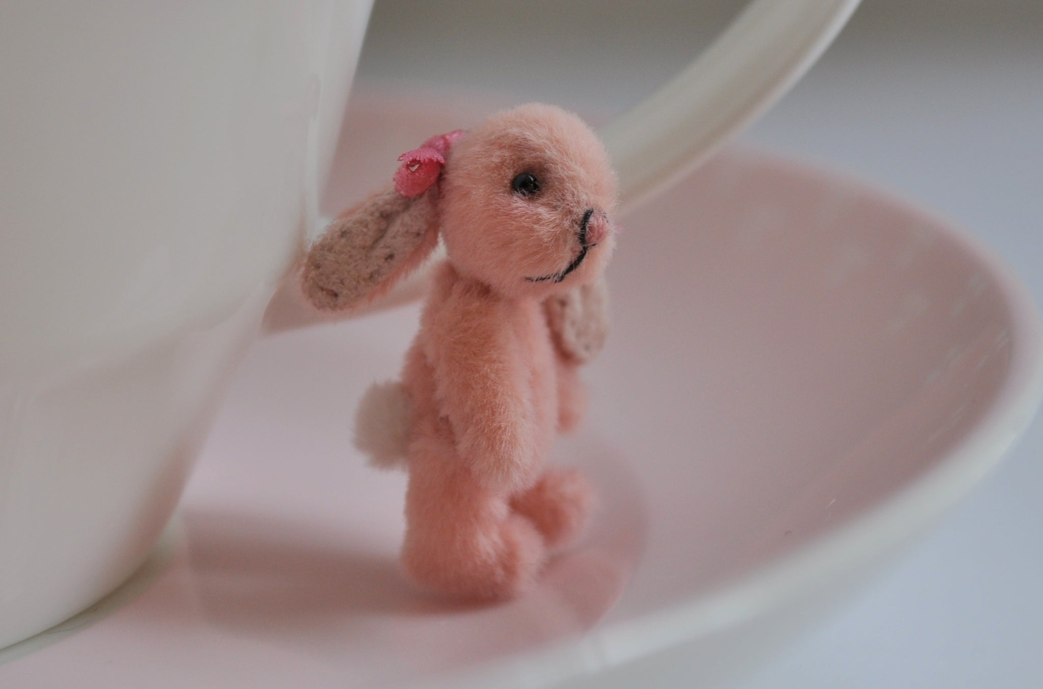 "Fully Jointed ""Pink Romance"" Bunny by Anna Braun"