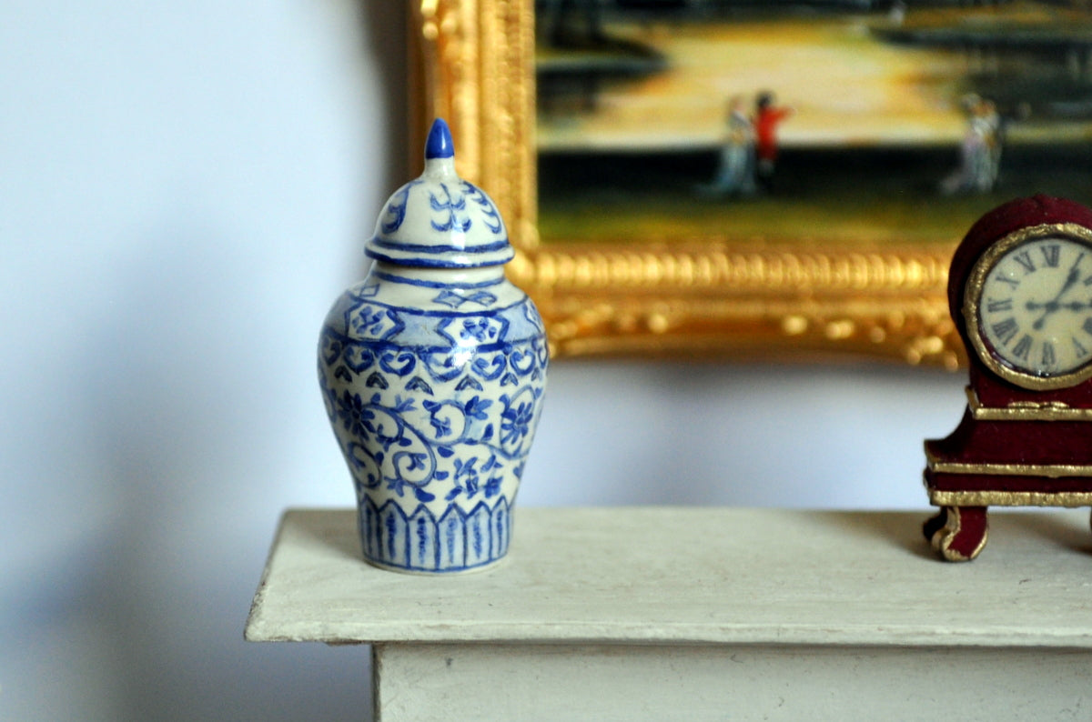 Blue & White Hand Painted Ginger Jar II by Pam Jones