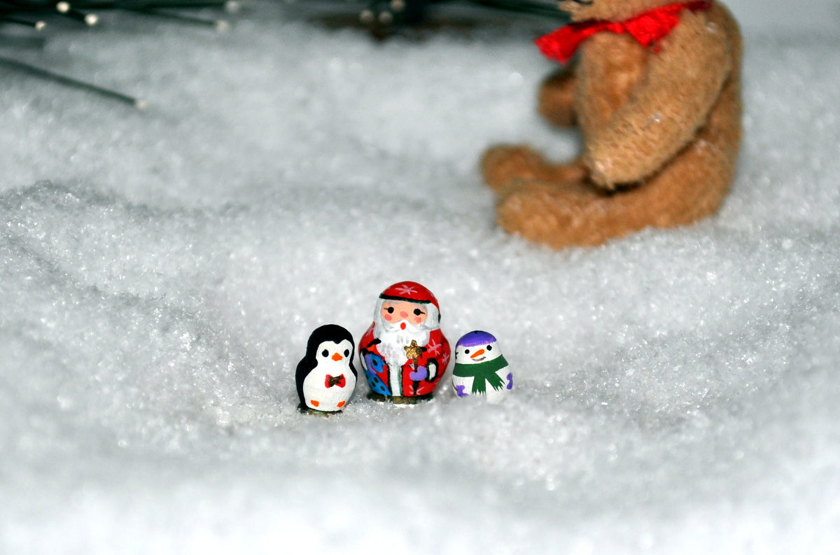 Tiny Hand Painted Christmas Russian Dolls by Olga