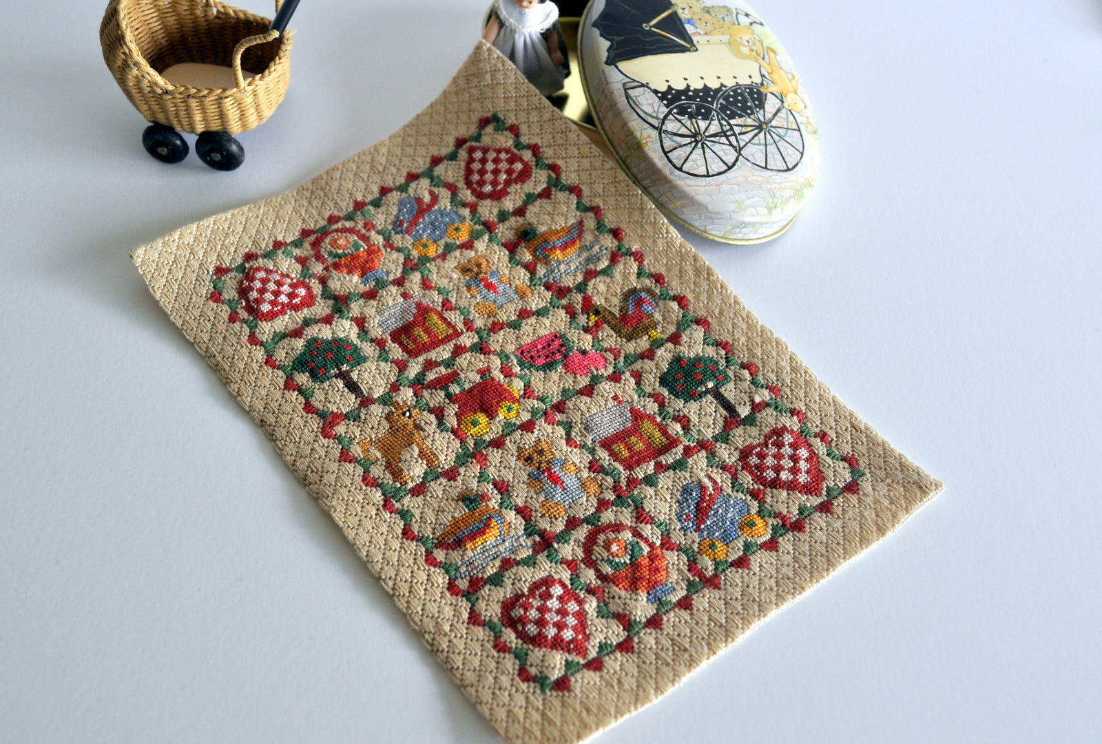 ESTATE TREASURE: Hand Stitched Nursery Carpet