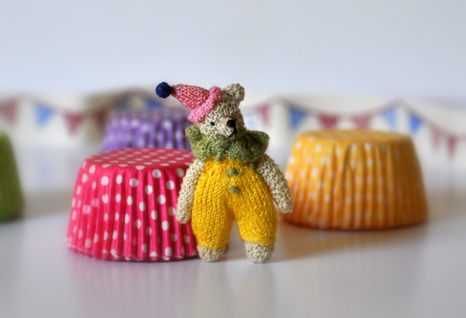 Teddy Clown Soft Toy #2 by Jenny Tomkins