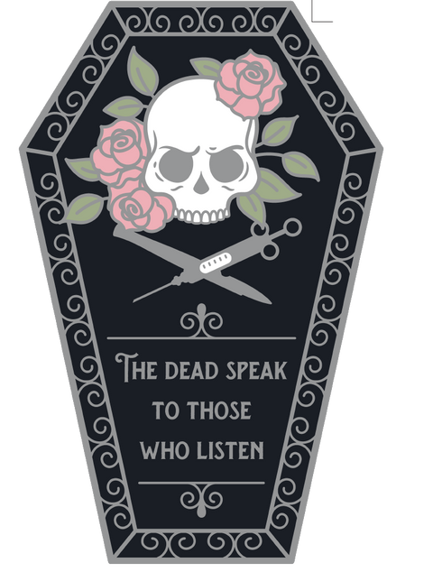 The Dead Speak to Those Who Listen Pin by Alchemy & Ink - Wicked Creatures Box