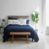 Navy Variegated Reversible Coverlet