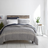Horizon Stripe Duvet, modern bedding