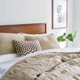Birch Pleated Linen, modern bedding