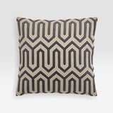Maze Velvet Embroidery Pillow Cover, modern bedding