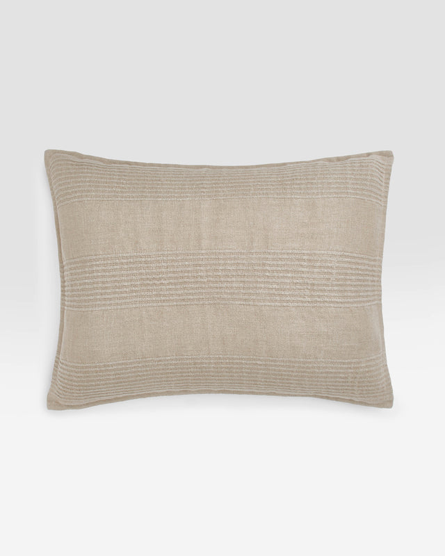 Birch Pleated Linen Sham, modern bedding