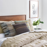 Birch Pleated Linen Duvet, modern bedding