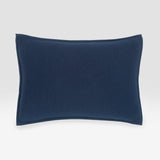 Navy Variegated Reversible Sham