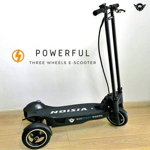 E-Riders Three Wheels   Electric Kick Scooter   Distributed by Ecosmart Riders®