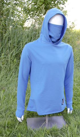 Men's Owl Cowl Long Sleeve Tee