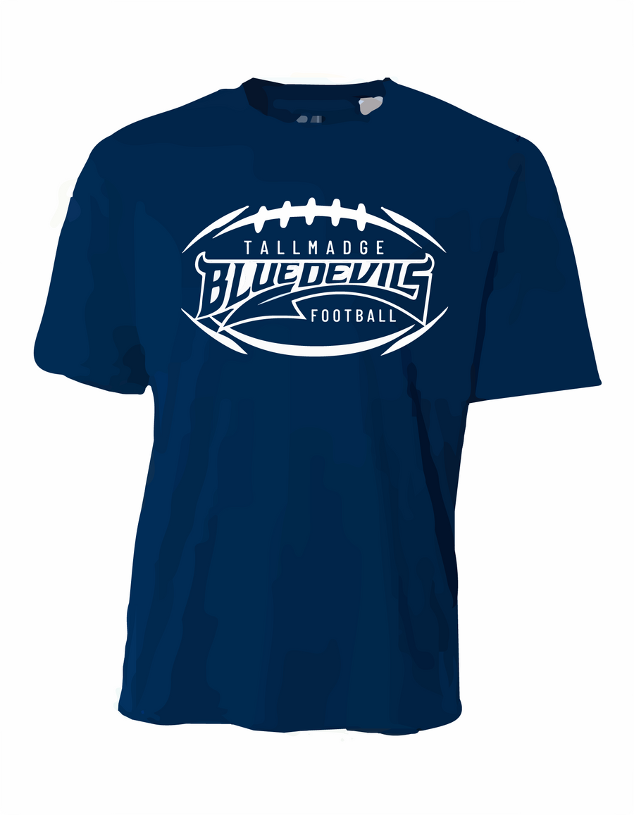 Tallmadge Youth & Adult Football Wicking Tee