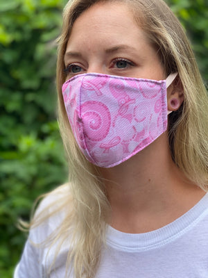Triple Layer Light Pink Breast Cancer Awareness Mask