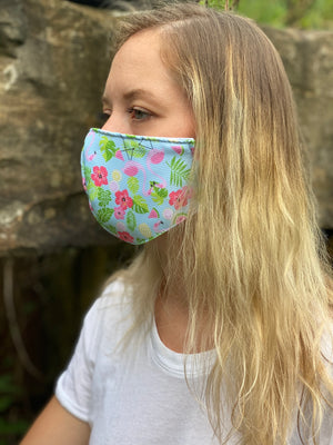 Triple Layer Floral2 Mask