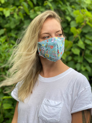 Triple Layer Medical Blue Mask
