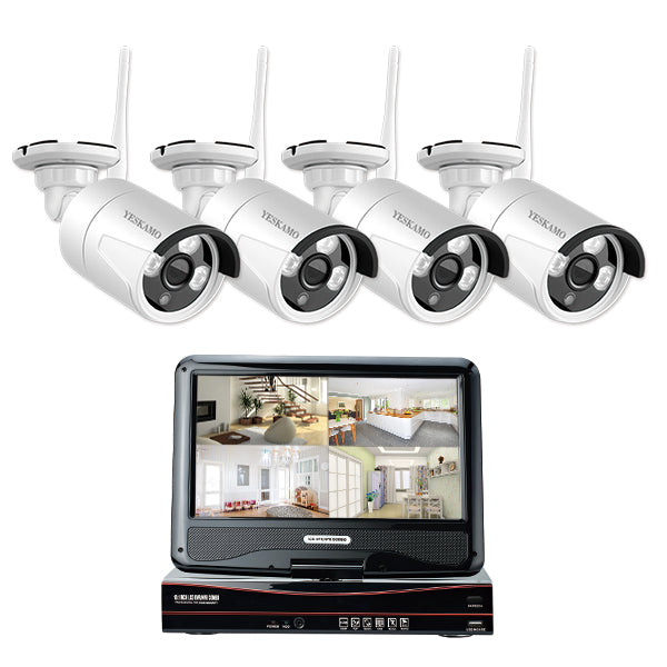 960P Cameras Kit with 10'' Monitor (4 Cams)