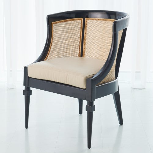 Global Views Cane Chair Black