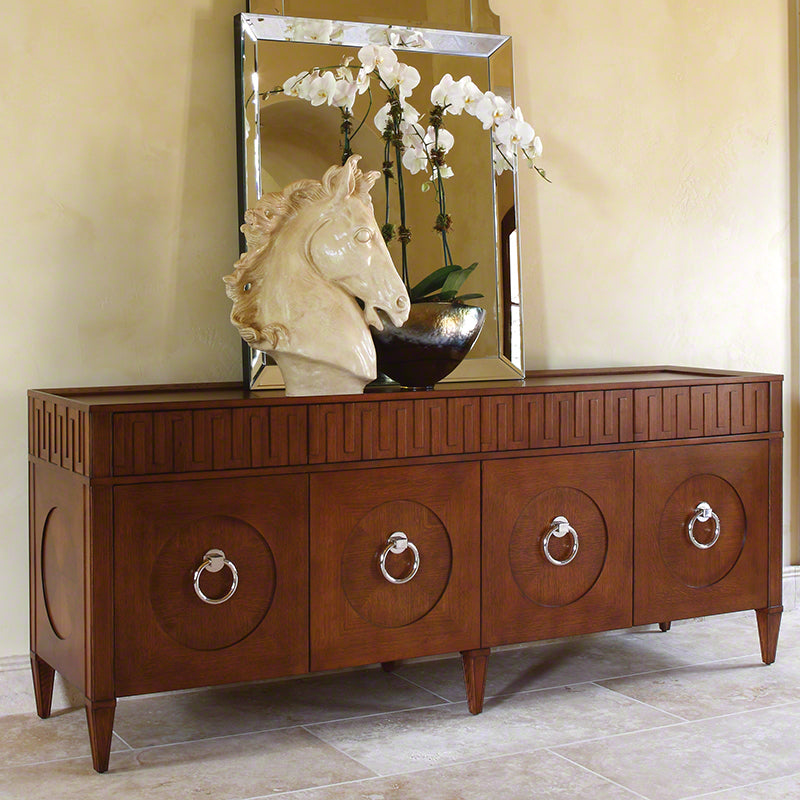 Global Views French Key Everything Cabinet Dark Oak