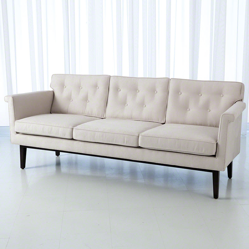 Global Views Emerywood Sofa, Suede Arctic