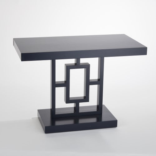 Global Views Grid Block Side Table Ink