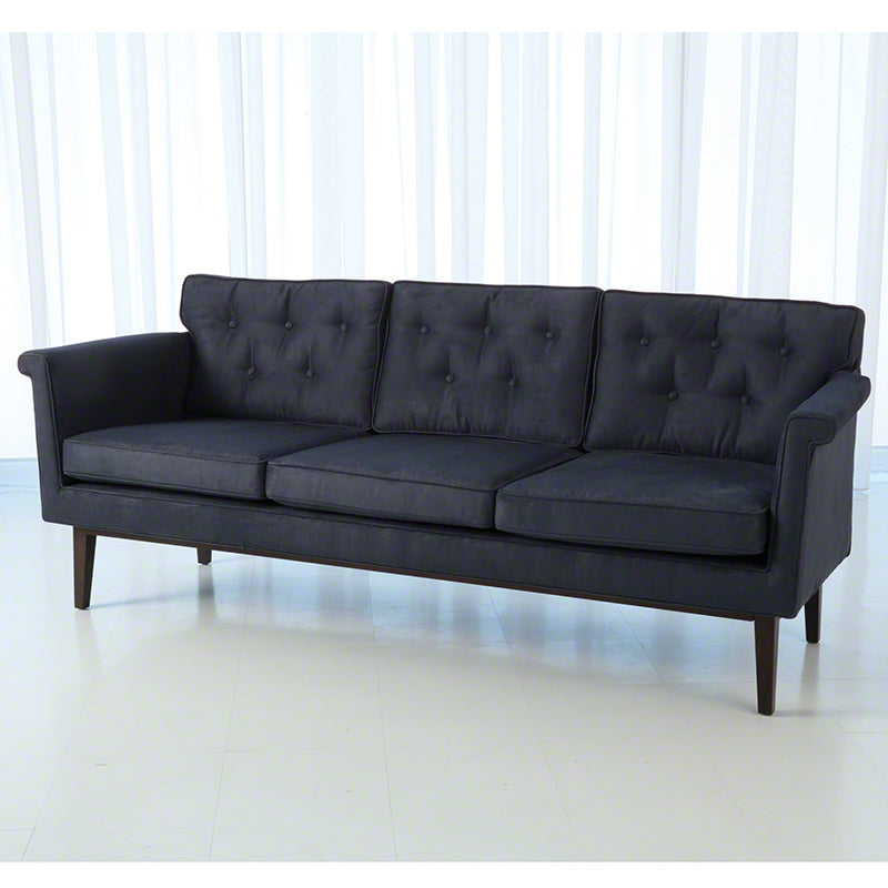 Global Views Emerywood Sofa D'oro Suede Ink