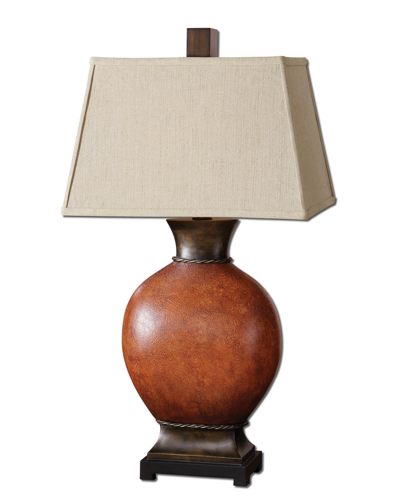 Suri Burnished Red Table Lamp