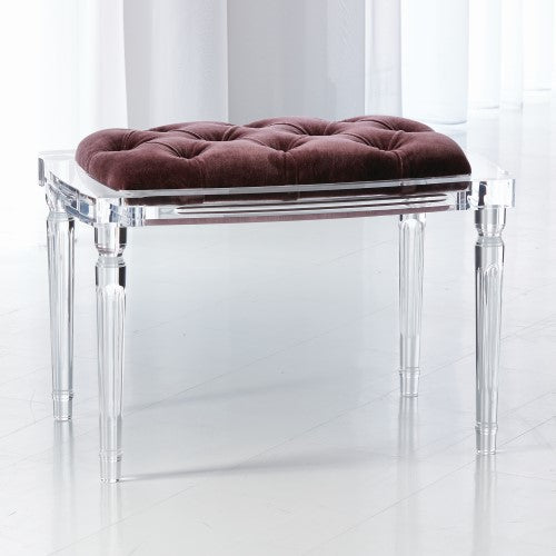 Global Views Marilyn Acrylic 4 Leg Bench Lavender