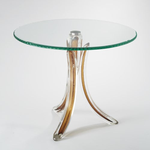 Global Views Glass Tusk Table