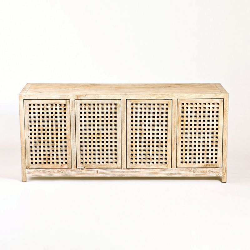 Global Views Driftwood Lattice Credenza