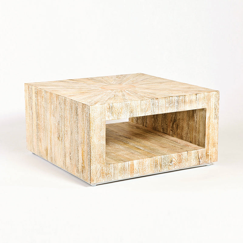 Global Views Natural Driftwood Coffee Table Square