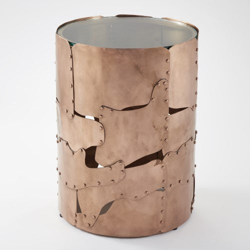 Global Views British Armor Copper Side Table