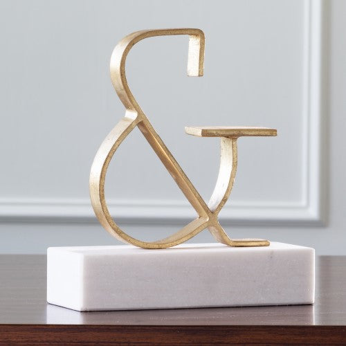 Global Views Gold Roman Ampersand Objet