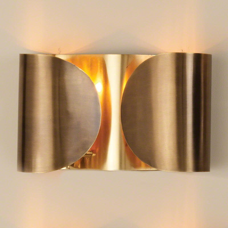Global Views Hardwired Folded Sconce Antique Brass/Brass