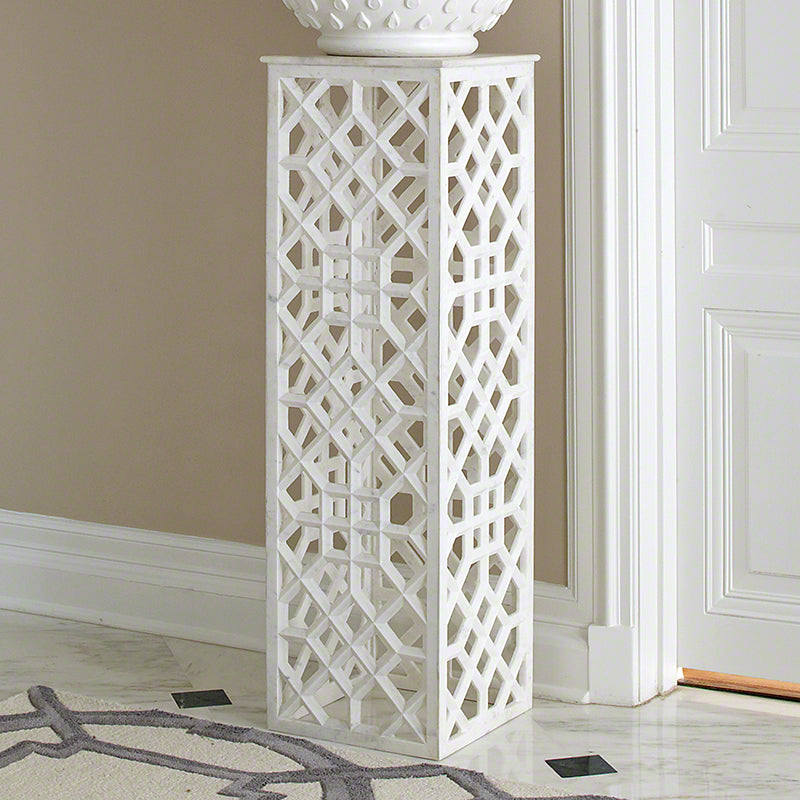 Global Views Marble Fret Pedestal