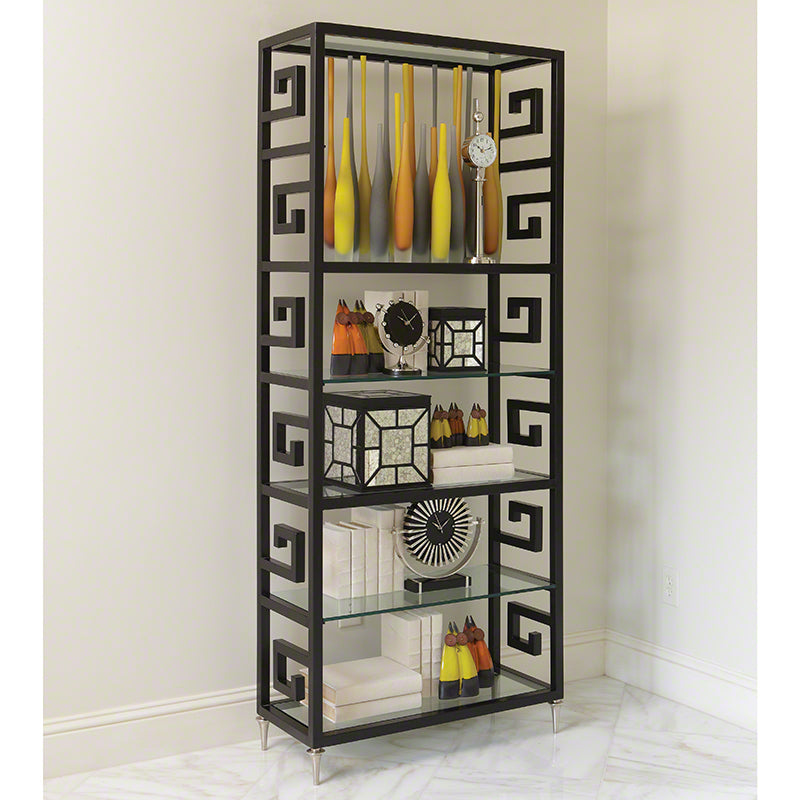 Global Views Greek Key Etagere