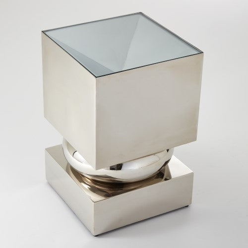 Global Views Squeeze Accent Table Bronze, Nickel