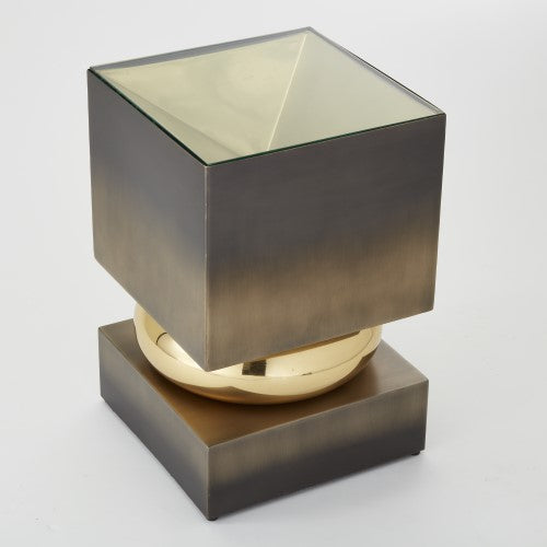 Global Views Squeeze Accent Table Bronze, Bronze