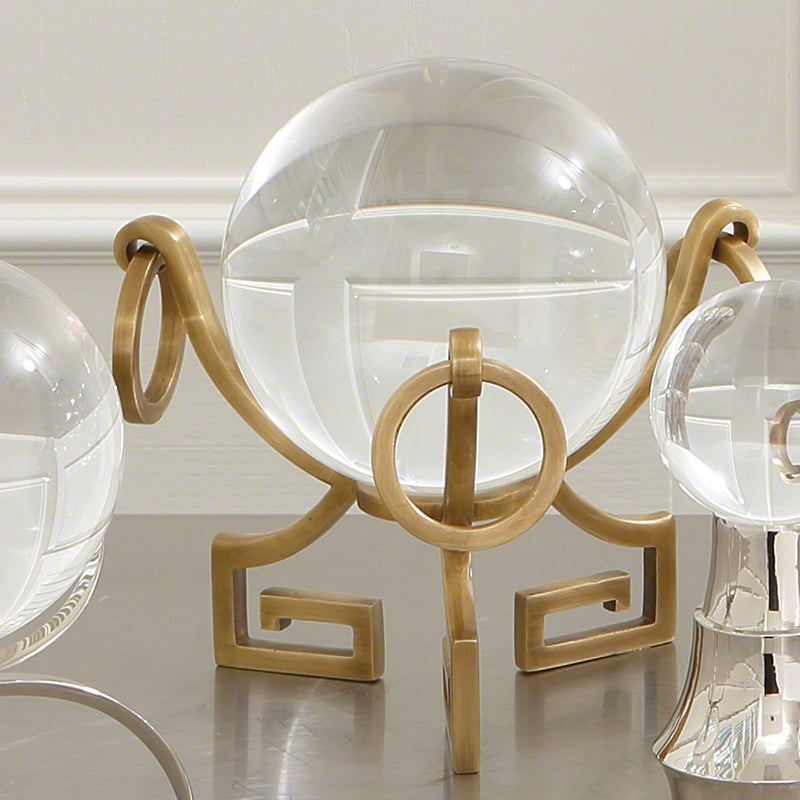 Global Views Greek Key Stand Brass