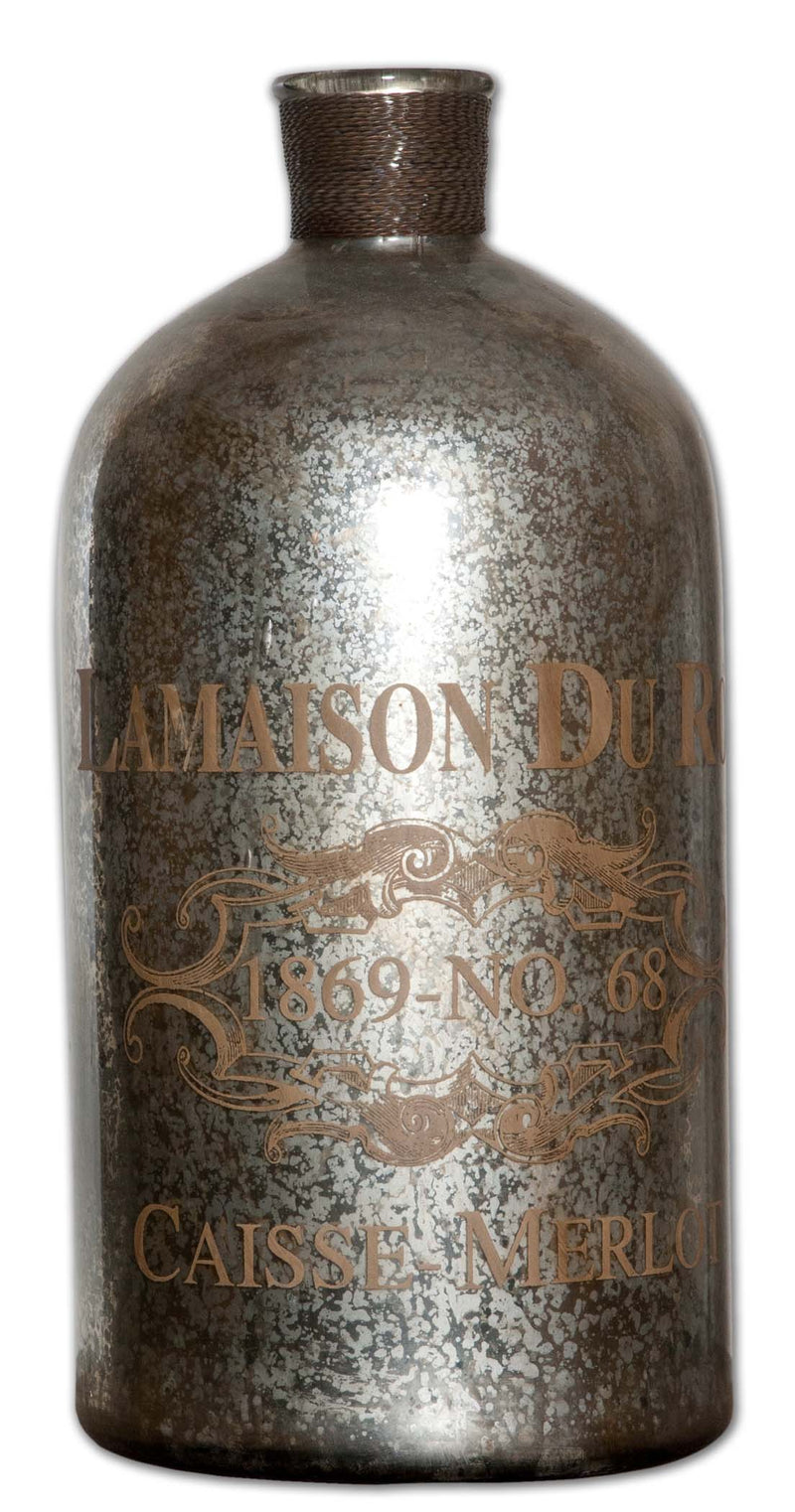 Lamaison Mercury Glass Bottle Large