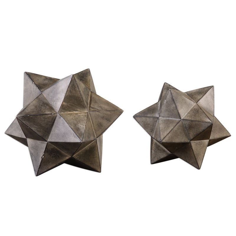 Geometric Stars Concrete Sculpture Set/2