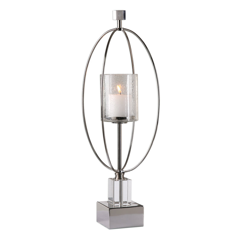 Tamra Polished Silver Candleholders
