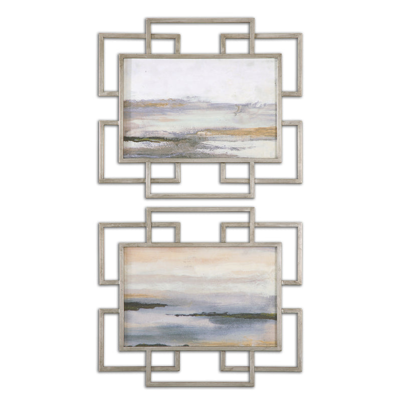Gray Mist Framed Art S/2