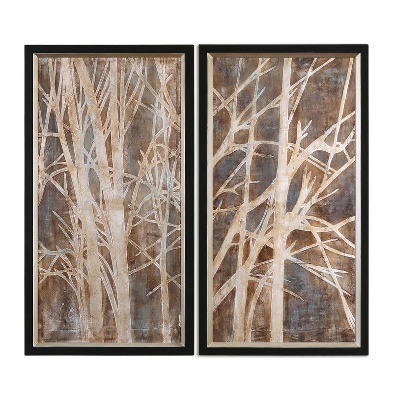 Twigs Hand Painted Art, S/2