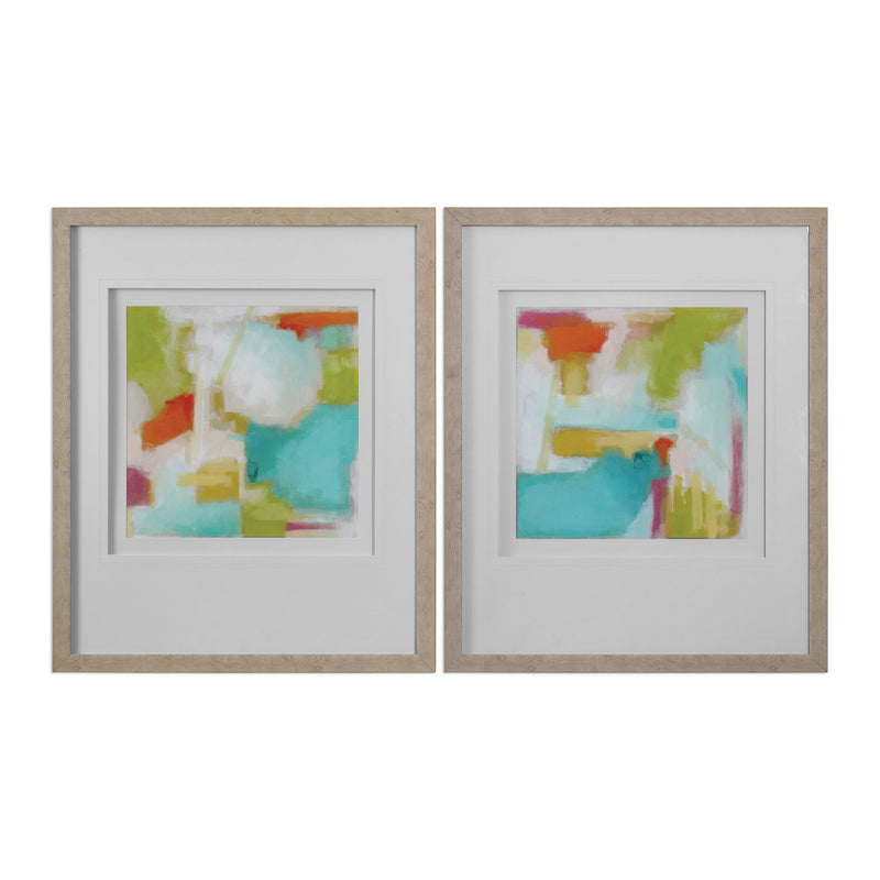 Color Space Watercolor Prints S/2