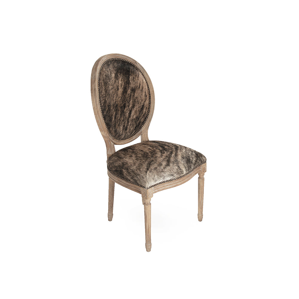 Medallion Cowhide Side Chair