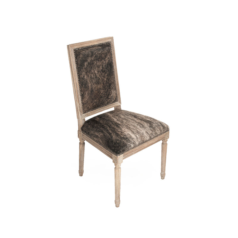 Louis Cowhide Side Chair