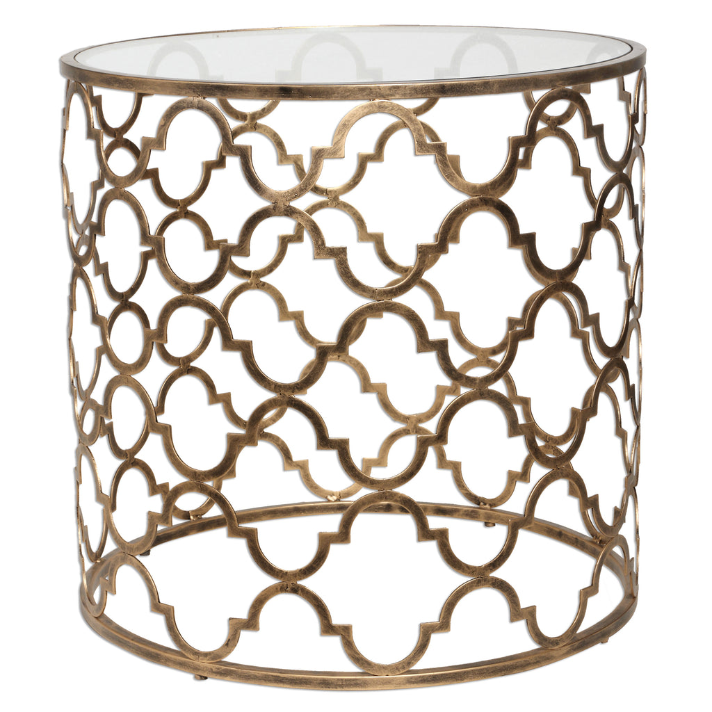 Quatrefoil End Table